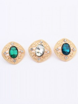 Occidente Elegante Temperament Gemstone all-match Stud Earrings