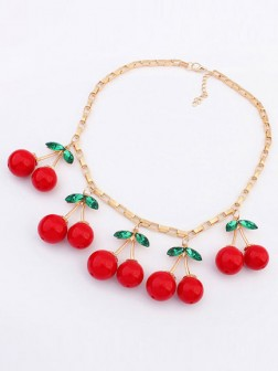 Korean version Lovely Cherry Elegante Collana