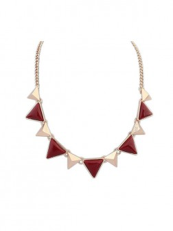Occidente Retro Punk Geometry Triangle Collana
