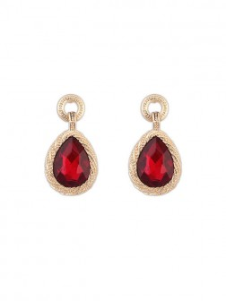 Occidente All-match Water Drop Temperament Gemstone Earrings