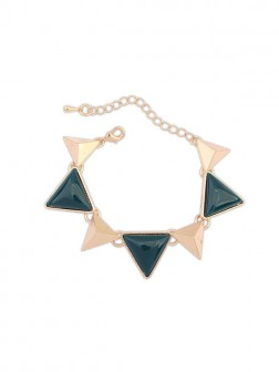 Occidente Retro Punk Geometry Triangle Bracelets