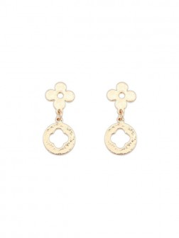 Occidente Semplice All-match Leaf clover Earrings