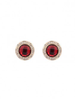 Occidente Squisito Alla moda Round Gemstone Stud Earrings