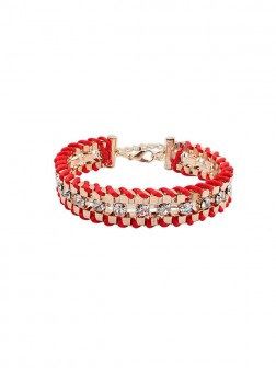 Occidente Ethnic Customs Woven Strass Bracelets