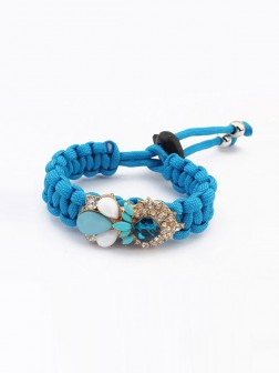 Occidente Alla moda Woven Gemstone Bracelets