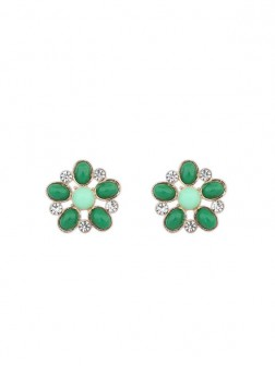 Occidente Bohemia Big Fiore Style Stud Earrings